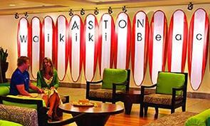 アストン ワイキキ ビーチ ホテルのロビー