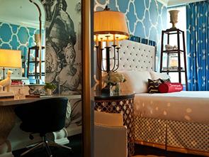 ホテル モナコ フィラデルフィア ベッドルーム
