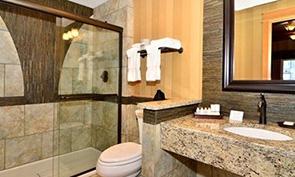 クオリティ イン & スイーツ シアトル センター シャワールーム
