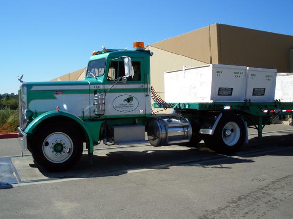 カリフォルニアワインカントリーの旅 トラックで運ばれるブドウ