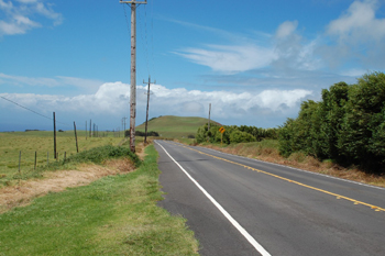 ハワイ島の西側を走ってみました