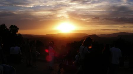 夕陽を観に行きました