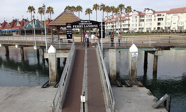 サンディエゴ湾フェリーの桟橋