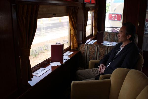 ワイントレインレポート ナパバレー・ワイントレイン 列車先頭のラウンジカー