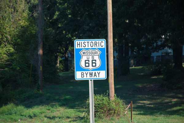 ミズーリ州のルート66サインボード