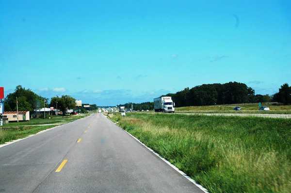 セントルイスへ向かうルート66の風景