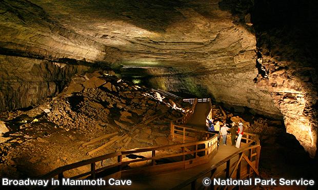 マンモスケーブのブロードウェイ Broadway in Mammoth Cave