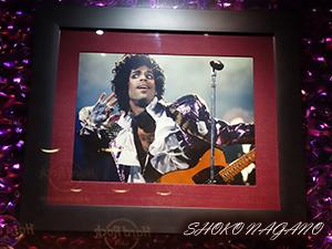 Hard Rock Cafe のプリンスの展示