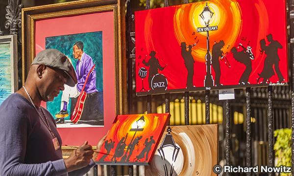 ジャクソン広場のアーティスト