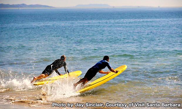 レッドベター・ビーチ Leadbetter Beach