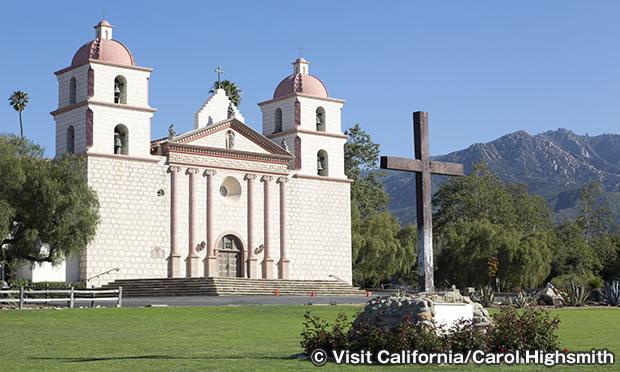 ミッション・サンタバーバラ スペイン建築を代表する伝道所