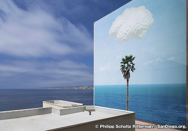 JOHN BALDESSARI / Brain/Cloud (with Seascape and Palm Tree)