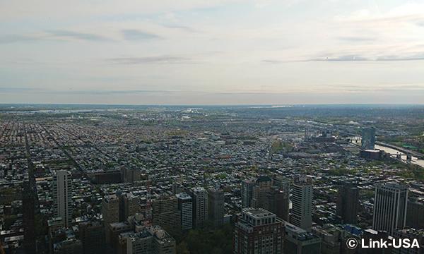 ワン・リバティ展望台から眺めるフィラデルフィア