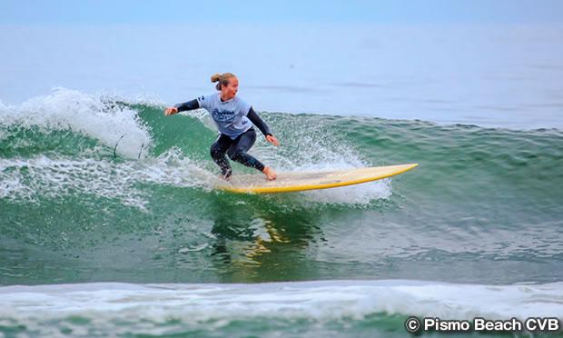 ピズモビーチのサーフィン
