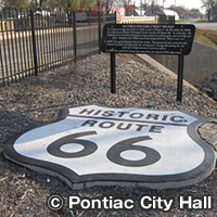 Route_66_Historic_Marker-Pontiac