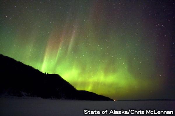 アラスカのオーロラ
