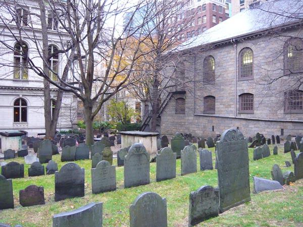 キングスチャペル墓地 ボストンで最も古い墓地