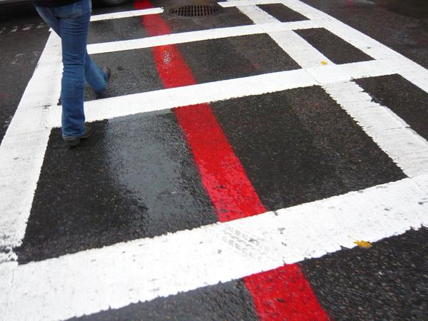フリーダムトレイルの赤い線