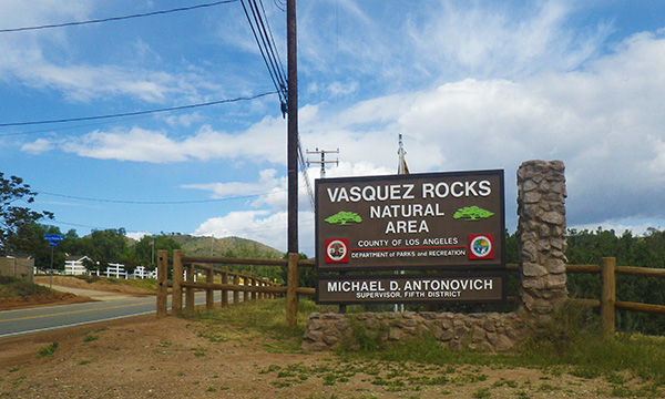 バスケスロック Vasquez Rock Natural Area