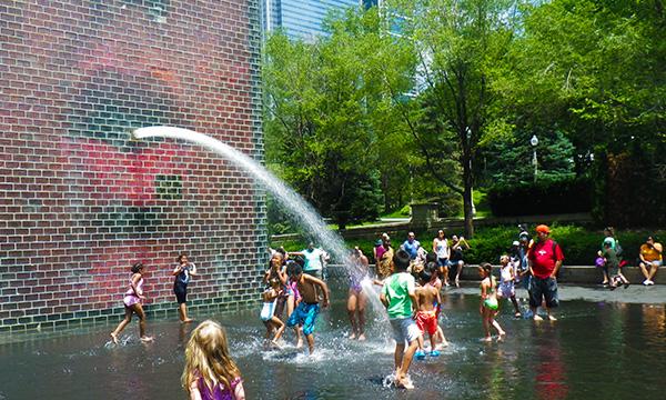 クラウンファウンテン Crown Fountain
