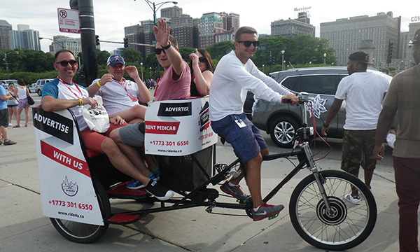 グラントパーク 自転車タクシー