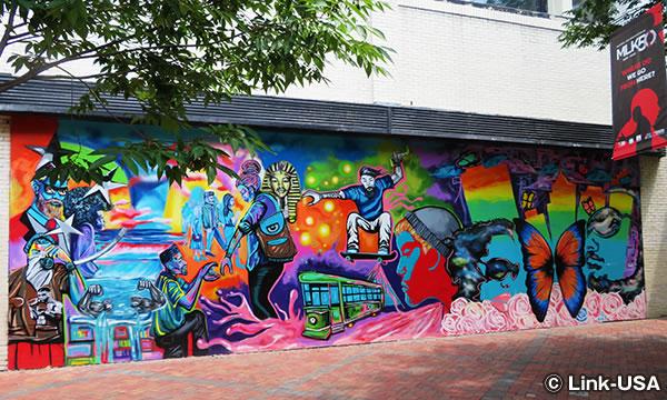 サウス・メイン・ストリートの壁画アート