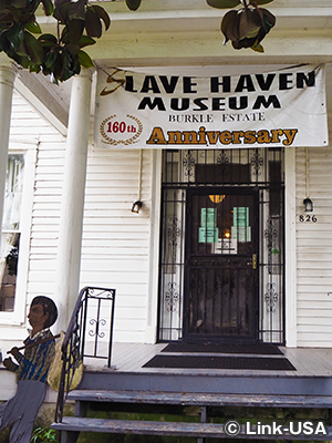 スレイブヘブン博物館(Slave Haven Underground Railroad Museum)