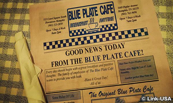 ブルー プレート カフェでアメリカンブレックファースト