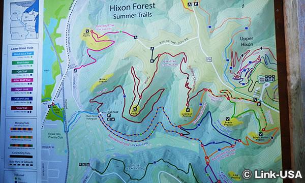 ハイキングコースを見に行く