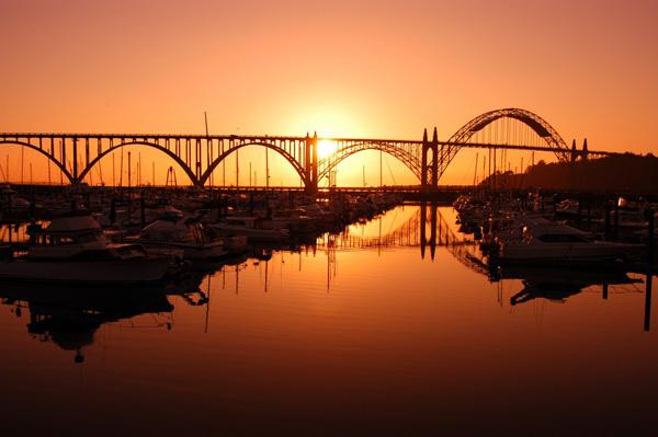 オレゴンコーストの港町 ニューポート