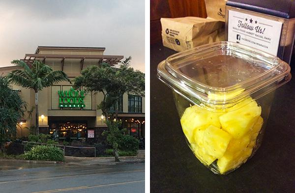 カイルアのWhole Foods Market でハニー クリーム パイナップルを買った