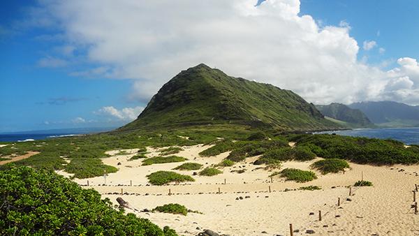オアフ島 レンタカーの旅 2015 オアフ島最西端 カエナ・ポイント