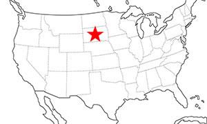 サウスダコタ 位置マップ