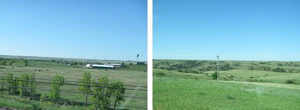 I-90 車窓からの風景