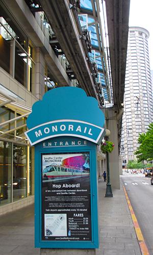 US-OPEN観戦とシアトル観光 - シアトル・センター・モノレール -