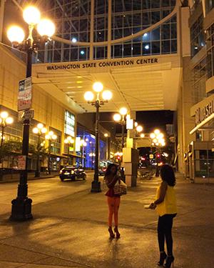 US-OPEN観戦とシアトル観光 - 夜のダウンタウン -